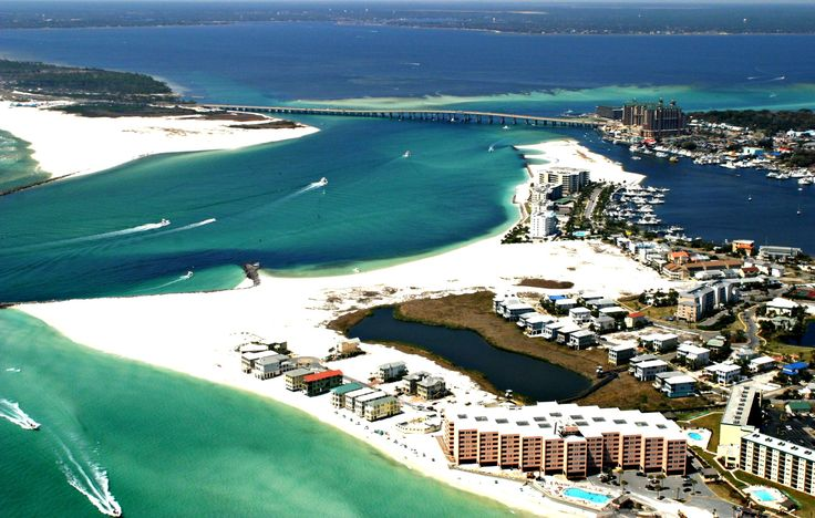 aerial view of destin 2